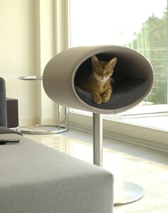 猫用ベッド ドイツ 最高級 猫ベッド 猫用家具 家具 ベッド ハンドメイド クラフトマンシップ 高級 ペット用ベッド ペット用家具 Rond stand フェルト地 クッション カバー ウォッシャブル