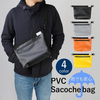 ●★Take the slant that there is PVC サコッシュショルダーバッグ water repellency in; bag men gap Dis 2way festival outdoor / ● oth-ux-bag-1809
