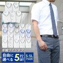 よりどり半袖5枚 ワイシャツ 半袖 形態安定 標準体 メンズ 5枚組 カッターシャツ Yシャツ ボタンダウン 選べる ビジカ…