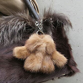 Key case women's STORY posted on knitted mink fur (fur) Bolero Chan key case ladies leather key ring with key ring [fun gift _ Messe input made in Japan original brand ■ pun _ ur