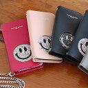  手帳型 スマホケース ニコちゃん スマイル iphone 6 & 6S 7 のみ対応アイフォーン アイフォン スマホ ケース スワロフスキー スワロ …