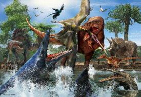 ジグソーパズル BEV-40-006 服部 雅人 ティラノサウルス VS モササウルス 40ピース