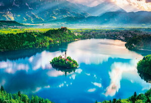 ジグソーパズル BEV-M81-875 風景 ブレッド湖 ~湖上の小さな教会~ 1000ピース