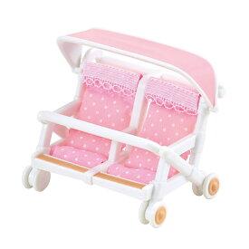 【あす楽】 おもちゃ カ-214 シルバニアファミリー ふたり乗りベビーカー[CP-SF] 誕生日 プレゼント 子供 女の子 3歳 4歳 5歳 6歳 ギフト お人形 シルバニア