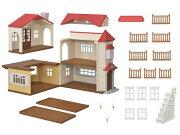 ハ-48シルバニアファミリー赤い屋根の大きなお家