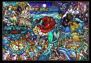 ステンドアートジグソーパズル TEN-DSG500-485 ディズニー リトル・マーメイド ストーリー ステンドグラス (リトル・マーメイド) 500ピース パズル Puzzle ギフト 誕生日 プレゼント