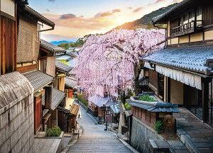 ジグソーパズル YAM-05-1024 風景 夕日としだれ桜 (京都) 500ピース [CP-T] パズル Puzzle ギフト 誕生日 プレゼント