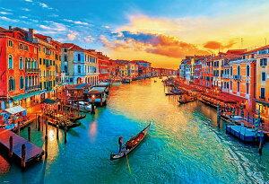 ジグソーパズル BEV-51-267 風景 夕陽に染まるヴェネツィア 1000ピース パズル Puzzle ギフト 誕生日 プレゼント