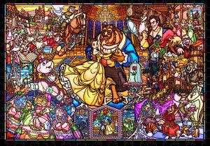 ステンドアートジグソーパズル TEN-DSG500-667 ディズニー 美女と野獣 ストーリーステンドグラス (美女と野獣) 500ピース パズル Puzzle ギフト 誕生日 プレゼント