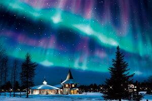 【あす楽】 ジグソーパズル EPO-12-513s 風景 きらめくオーロラの夜-フィンランド 1000ピース