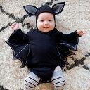 【送料無料】ベビー コスプレ衣装 幼児 女の子 男の子 かわいい ハロウィン衣装 蝙蝠 コウモリ 赤ちゃん オールインワン 悪魔 パーカー ジャージ 長袖 スウェット 帽子付き 撮影 プレゼント 衣装