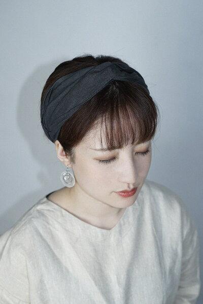 麻/ターバン/リネンヘアバンド