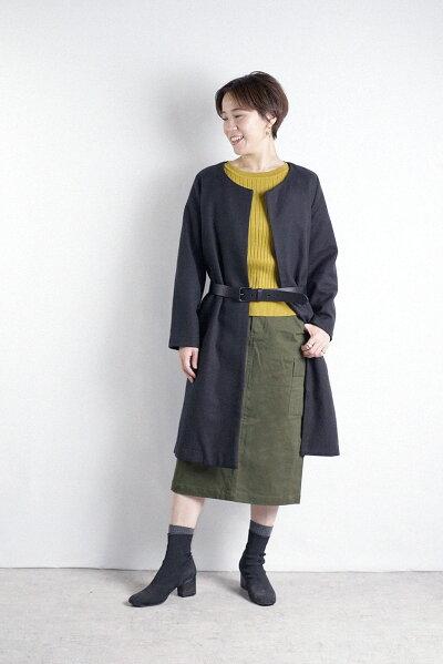 リネンコットンニットクルーネックニット麻55%綿45%大人オシャレレディースファッション