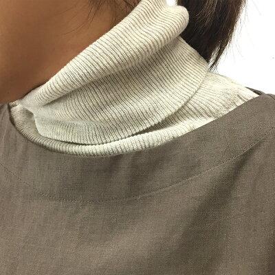 ニットハイネック綿コットンカットソーリブニットセーター