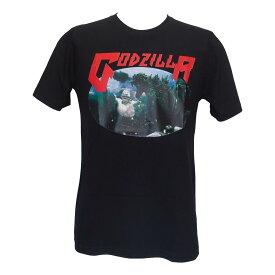 送料無料 ムービー Tシャツ ゴジラ GOZILLA プリント Tシャツ 面白Tシャツ 半袖 映画 黒 ブラック マシュマロマン