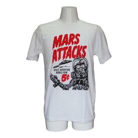 【送料無料】 マーズアタック Mars Attacks プリント Tシャツ ムービー Tシャツ 映画 メンズ レディース 白 ホワイト 半袖 マーズ 80年代 90年代