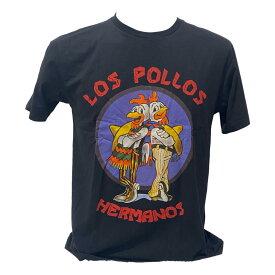 送料無料 ブレイキングバッド Los Pollos ガス・フリング ハイゼンベルグ プリントTシャツ 黒 ブラック プリント セレクトTシャツ ユニセックス 面白い デザイン 誕生日 プレゼント 彼氏 ギフトバッグ 袋 贈り物