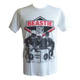 送料無料 ビースティボーイズ Beastie Boys プリント Tシャツ ROCK ロック Tシャツ バンド Tシャツ HIPHOP 半袖 メンズ レディース 白 ホワイト バンT