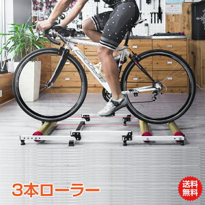 【安心の1年保証付】自転車 トレーニング 室内 3本ローラー サイクルトレーナー 自宅 おすすめ トレーニングマシン エアロバイク フィットネスバイク 自転車 ダイエット サイクリングマウ