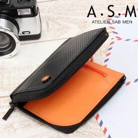 あす楽対応 A・S・M [アトリエ サブ メン] 縦型2つ折り財布 ラウンドファスナー ジャガー 151635【送料無料】 【メンズ】【カラフル】[バッグ 財布 通販]