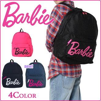 巴比Barbie帆布背包利兹金色金属线45925上学女子的可爱的大人小孩