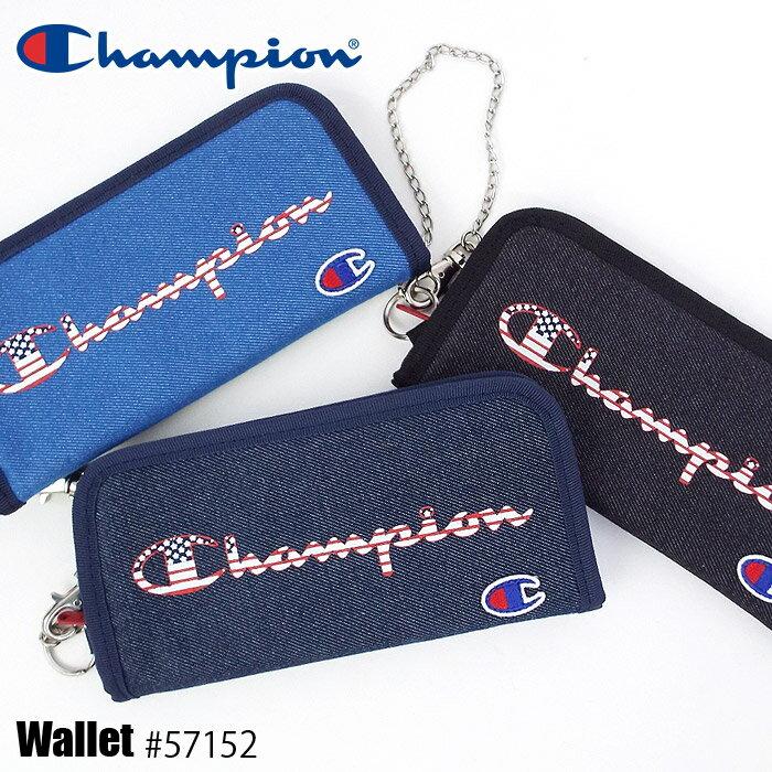 チャンピオン 長財布 ラウンドファスナー キッズ Champion 1-57152 男の子 女の子 ウォレットチェーン付