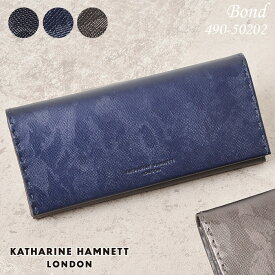 キャサリンハムネット 長財布 KATHARINE HAMNETT BOND 490-50202 メンズ レディース 革 本革 迷彩 送料無料