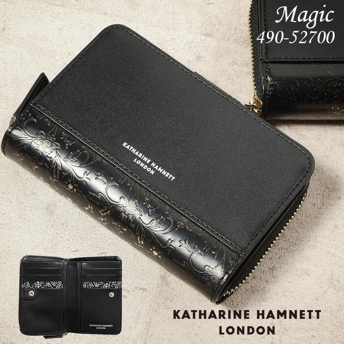 キャサリンハムネット 財布 メンズ 二つ折り財布 縦型 KATHARINE HAMNETT マジック 490-52700 本革