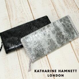 キャサリンハムネット 長財布 ラウンドファスナー KATHARINE HAMNETT Edge 490-53005 メンズ レディース 送料無料