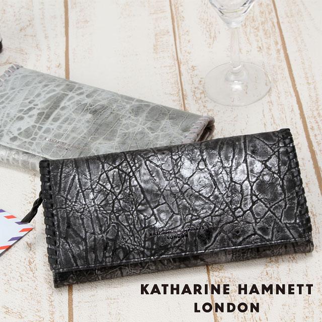 キャサリンハムネット 長財布 KATHARINE HAMNETT Edge 490-53006 メンズ レディース 革 送料無料
