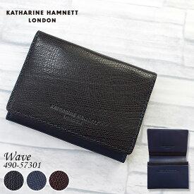 キャサリンハムネット KATHARINE HAMNETT 名刺入れ 牛革 メンズ 490-57301