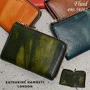 キャサリンハムネット 財布 二つ折り財布 縦型 KATHARINE HAMNETT FLUID 490-59202 メンズ レディース 革 送料無料