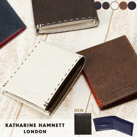 キャサリンハムネット 二つ折り財布 カラーテーラード 490-51905 メンズ レディース 革 レザー