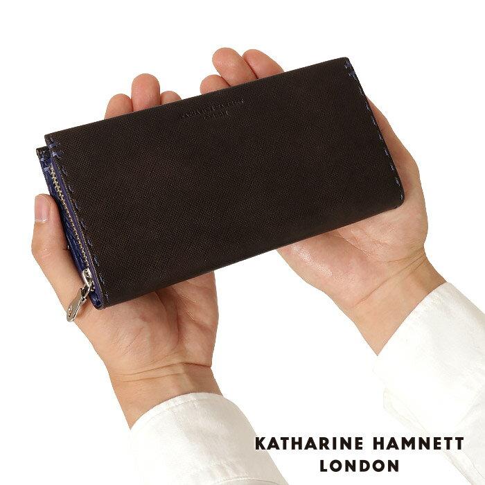 キャサリンハムネット 財布 長財布 ラウンドファスナー メンズ KATHARINE HAMNETT 490-51908