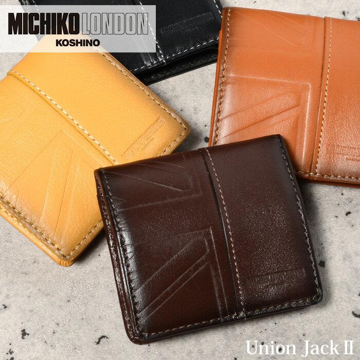ミチコロンドン 財布 コインケース MICHIKO LONDON ユニオンジャック2 mj5961 メンズ 革