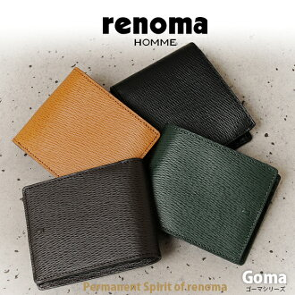 renoma HOMME [renomaom] two fold wallet Goma 505604 10P24Oct15.