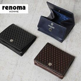 6c2b61b3ff4e レノマ renoma 小銭入れ グレ 525601 【メンズ】【コインケース】【革】