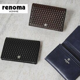 レノマ renoma 名刺入れ グレ 525603【メンズ】【カードケース】【革】【送料無料】【財布】【あす楽対応】【送料無料】