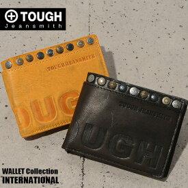 TOUGH タフ 二つ折り財布 牛革 メンズ INTERNATIONAL 68752 あす楽対応 ブラック
