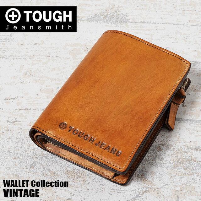 TOUGH タフ 二つ折り財布 縦型 VINTAGE 68773 メンズ 革 送料無料