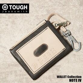 TOUGH タフ 財布 二つ折り財布 パスケース ノートフォー 69012 メンズ 革 レザー