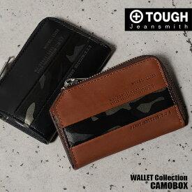 TOUGH タフ キーケース 財布 カモボックス 69052 メンズ 革 迷彩 ブラック ブラウン ポイント2倍