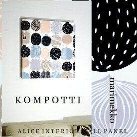 ファブリックパネル アリス marimekko KOMPOTTI ホワイトまたはグリーン 40×40cm 各カラー有 単品販売 マリメッコ コンポッティ リビング ダイニング 店舗
