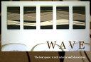 ファブリックパネル アリス WAVE MODREN 40×22cm 5枚セット 迫力の5連 ファブリック パネル 5連続 モダン ファブリック ボード 人気イン...