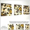 ファブリックパネル アリス OLIVE 30×30cm 3枚セット マロン 植物 オシャレ 北欧 インテリア ブラウン カーキ