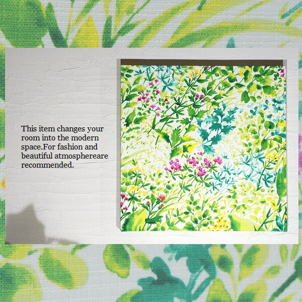 単品 ファブリックパネル アリス GREENGARDEN 40×40cm 単品販売 グリーンガーデン 木 グリーン 北欧 おしゃれ インテリア 壁掛け 草花