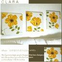 ファブリックパネル アリス adorno CLARAYELLOW 40×40cm 3枚セット イエロー 黄色 リビング ダイニング 店舗 おすすめ 花柄 植物柄...