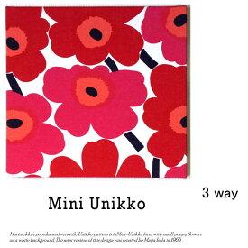 送料無料 marimekko SSファブリックパネル miniunikko 20×20cm レッド 小さいマリメッコファブリックパネル 北欧 ミニウニッコ red クリックポスト発送 日時指定不可