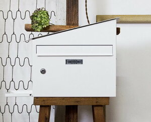 【AXCIS】ハウスポスト ホワイト メールボックス A4サイズ 郵便ポスト 壁掛けポスト 郵便受け メールボックス 送料無料 ★