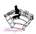■ネコ雑貨 Aveille フィルタースタンド ネコ ブラック ABR-855 黒猫アイアンシリーズ ねこグッズ 猫グッズ クロネコ …